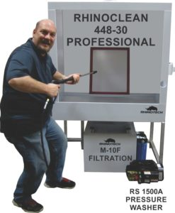 Printing and screen cleaning equipment.