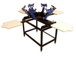 Tee Shirt Printer 6x4, Image of Model 6 Color / 4 Station T-Shirt Printer with Stand