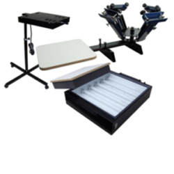 Image of 4 Color / 1 Station Plus T-Shirt Printing Package