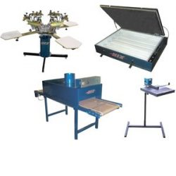 Image of 6 Color / 4 Station Printer & Conveyor Dryer Package