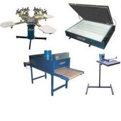 6 Color / 4 Station Printer & Conveyor Dryer Package, Image of 6 Color / 4 Station Printer & Conveyor Dryer Package