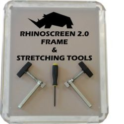 RhinoScreen Frame and Kit, Image of RhinoScreen 2.0 Frame & Stretching Tools